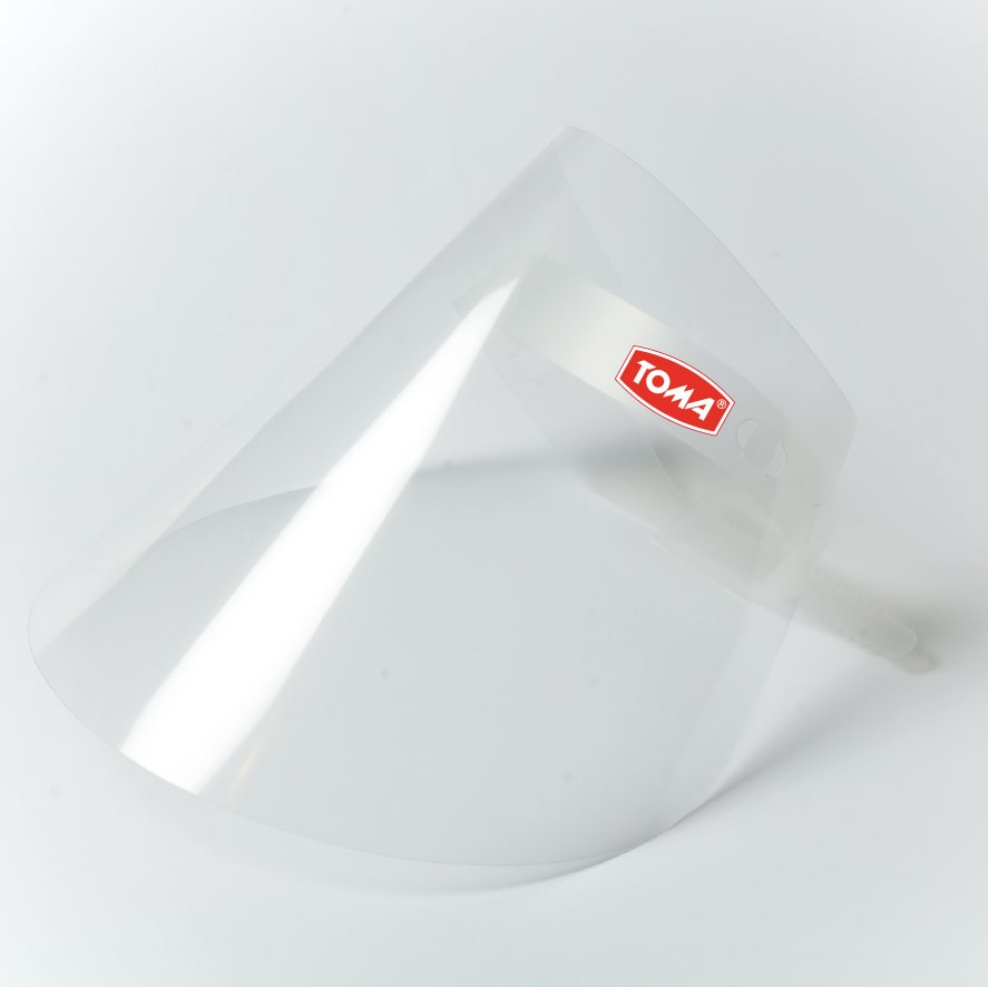 protective face shield with logo 1